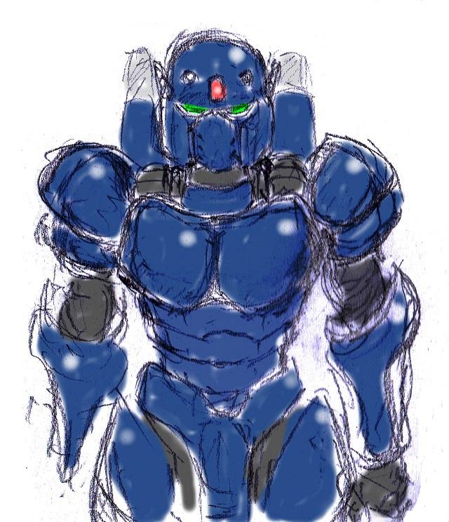 紺碧のミシマ ~ホームレスだったけど異世界へ行ってロボットになったので俺は自由に生きる~の表紙